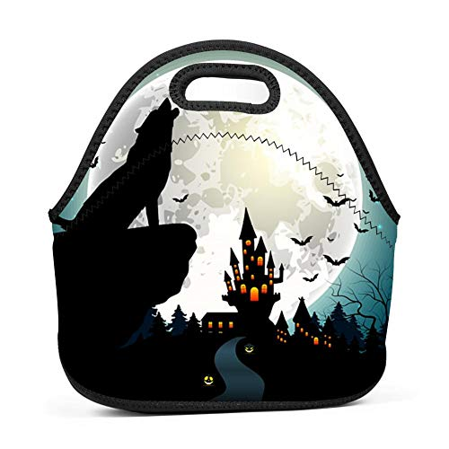 WWQE-B Halloween Wolf Lunch Tote -