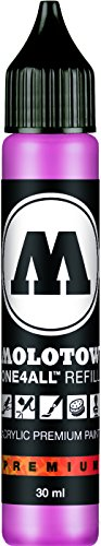 Molotow ONE4ALL Acrylic Paint Refill, For Molotow ONE4ALL Paint Marker, Neon Pink, 30ml Bottle, 1 Each (693.200) (Blick Dispenser)