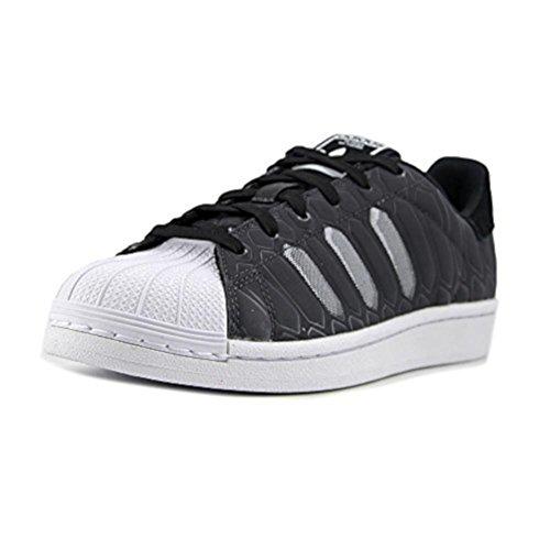 adidas Unisex Superstar CTXM J Black White Shoes (7 M US Big Kid)