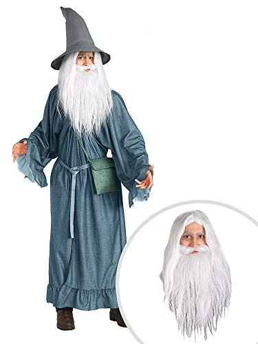 Lord of The Rings Gandalf Costume Kit Adult with Wig and Beard