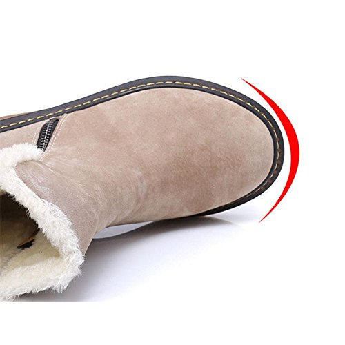 da donna invernali la tiene da 37 corto Il neve Stivali caldo al tubicino caviglia caldo pAnxtFWwqw