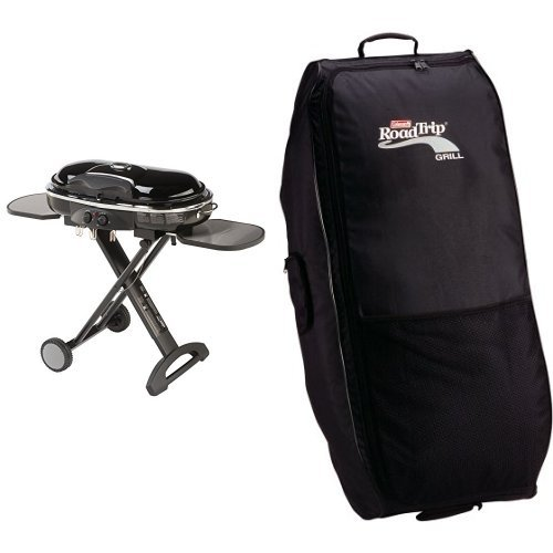 Coleman RoadTrip LXX Grill and Coleman RoadTrip Wheeled Carry Case Bundle