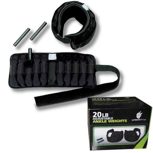 Ultimately Fit 20lbs Adjustable Ankle Weights by ELEMENT FITNESS