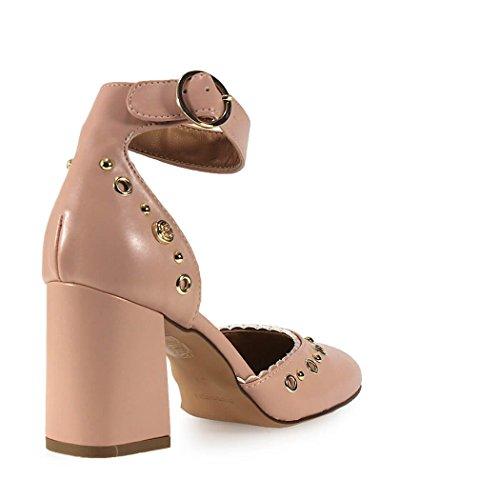 Rosa Primavera Zapato 2018 Love Tacón Verano Calzado De Moschino Mujer wBq0BIZ