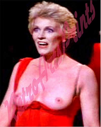 Handmade Erotic Large Beautiful ActressJulie Andrews (of Mary Poppins Fame) Rare Topless on Stage Looking Surprised, Nude 8