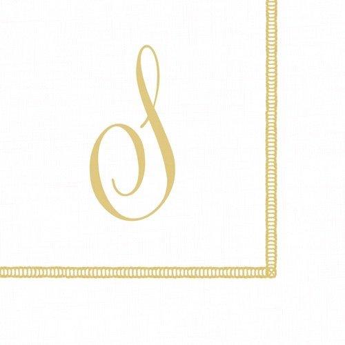 Entertaining with Caspari Monogram Initial S Paper Cocktail Napkins, Pack of 20 ()