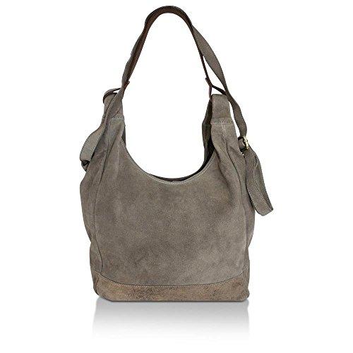 Anokhi, Borsa tote donna grigio 138 Marsh Grey (BxHxT) 48x36x15 cm