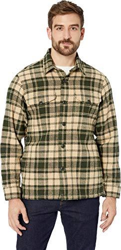 Filson Men's Deer Island Jac-Shirt Dark Cream/Green Plaid X-Large