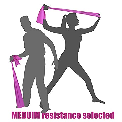 MEDIUM TENSION EXERCISE RESISTANCE BANDS - Home Gym Fitness Equipment. Ideal for Physical Therapy, Strength Workout, Theraband, Pilates, Beachbody, Yoga, Mat, Rehab, Seated | LATEX-FREE | - Monster Yoga Mat