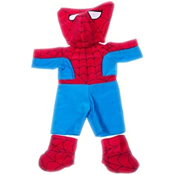 spidey teddy outfit fits most 8 10 webkinz shining star and 8 10 make your own stuffed animals and build a bear - Webkinz Halloween Costumes