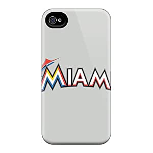 ERCox IYYpsyN-5539 Protective Case For Iphone 4/4s(baseball Miami Marlins 2)