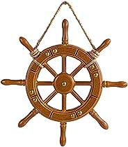 Dolity Artesanato Ornamentos Barco de Madeira Leme Parede Decoração Náutica Roda Decoração para Casa Accs - 35