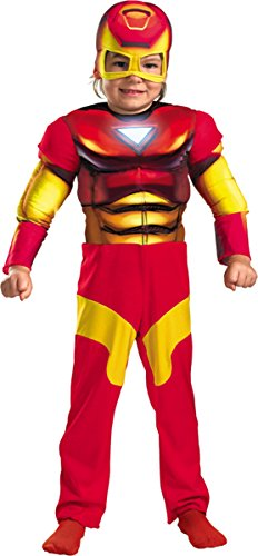 Morris Costumes Iron Man Toddler Muscle 2T (Infant Iron Man Costume)