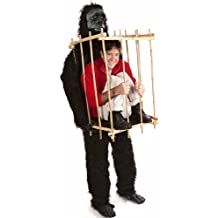 """HouseHaunters """"Get Me Outta This Cage"""" Gorilla and Cage Costume Kit"""