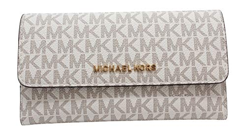 Michael Kors Women's Jet Set Travel Large Trifold Wallet
