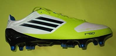 new product 9cc95 9745d adidas F50 Adizero XTRX SG SYN v21452 Chaussures de Football Crampons Homme  Blanc Jaune (46