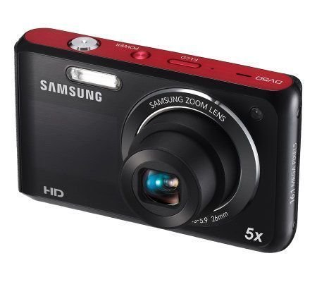 Samsung DV50 Dualview 16 MP 5X Opt Zoom Digital Camera Black 2.7