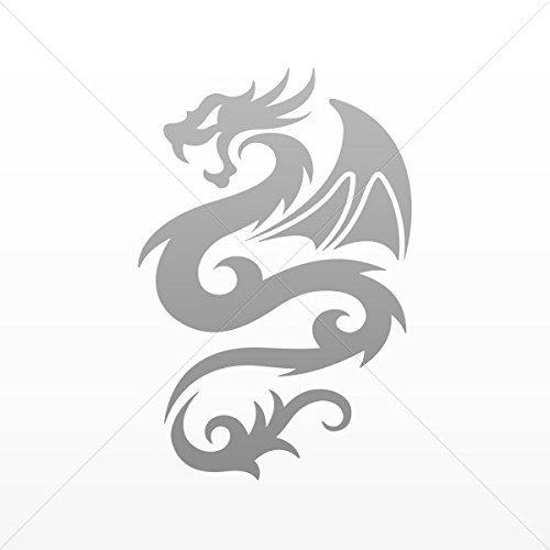 Decal Stickers Tribal Dragon Decoration Motorbike Bicycle Ve Gray (4 X 2.65 ()