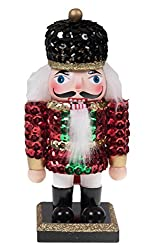 Soldier Nutcracker Wearing Sequin Jacket and Hat