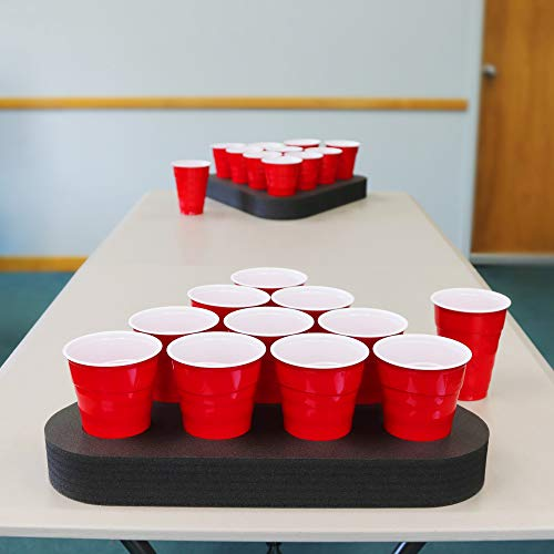 Polar Whale 2pc Portable Beer Pong Table Top Party Game Rack for Basement Dorm Lawn Tailgate Beach or Pool Durable 17.5 Inch UV Resistant Waterproof Washable Indoor Outdoor Made in USA Pair Set