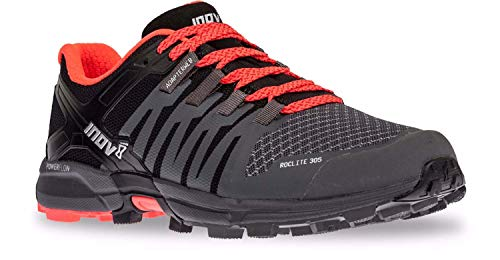 Inov-8 Roclite 305 GTX Hiking Boot Sneaker Trail Running Shoe – Black/Grey / Red – Mens – 11 Review