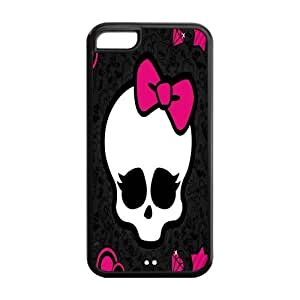 Cute Girly Skull Protective PC Cell Cover Case for iPhone 5C,5C Phone Cases