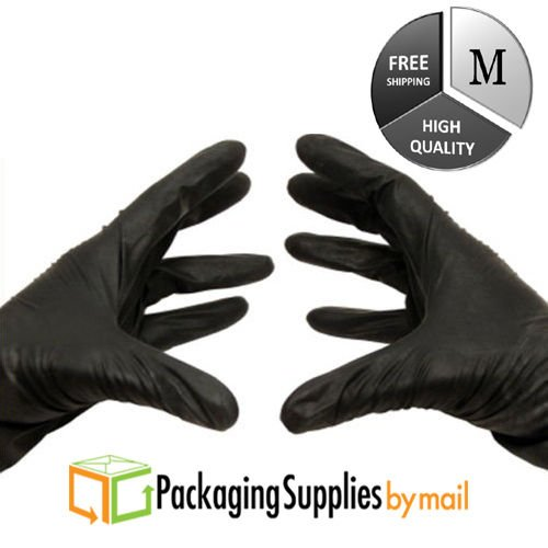 Black Nitrile Latex-Free Disposable Gloves Medium 7000 Pieces by PSBM