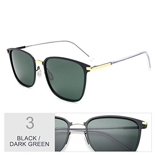 para gafas Square Oro Negro Black Classic de Green luces delgado gris Sunglasses TL gafas conducción ultra de sol de Dark hombres sesgados aPqYEnTnx