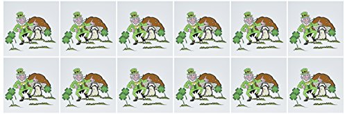 Price comparison product image 3dRose Leprechaun Dancing - Greeting Cards, 6 x 6 inches, set of 12 (gc_18443_2)