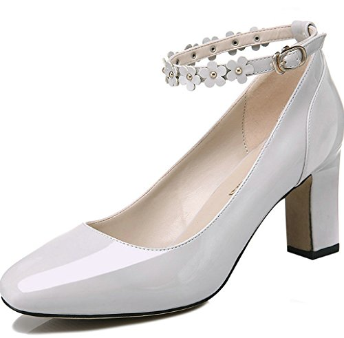 Dress Fashion Shoes WENDYWU Women white Pumps 6 10EcAqw