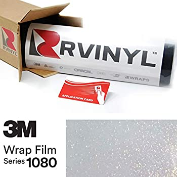 3M 1080 GP240 Gloss White Gold Sparkle 5ft x 30ft W/Application Card Vinyl Vehicle Car Wrap Film Sheet Roll
