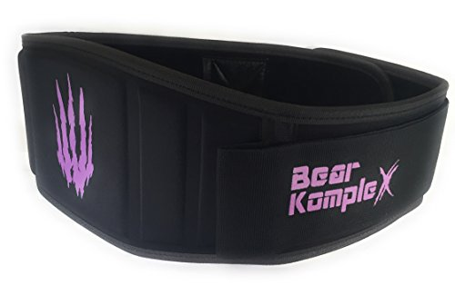 Bear KompleX Weighlifting belt for Powerlifting, Crossfit, Squats, Weight Training and more. Low profile velcro with super firm back for maximum stability and exceptional comfort. PURP Med belt