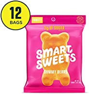 SmartSweets Gummy Bears Fruity Candy With Low-Sugar (3g) & Low Calorie (90)- Free of Sugar Alcohols & No Artificial Sweetene