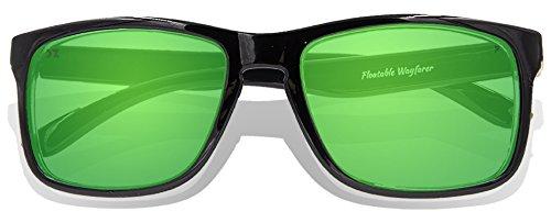para Gafas sol Black adultos de Full KZ Green Revo Lens Glossy Frame tOqwxdtZn