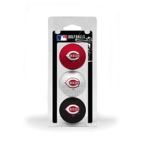 Team Golf MLB Cincinnati Reds Regulation Size Golf Balls, 3 Pack, Full Color Durable Team Imprint