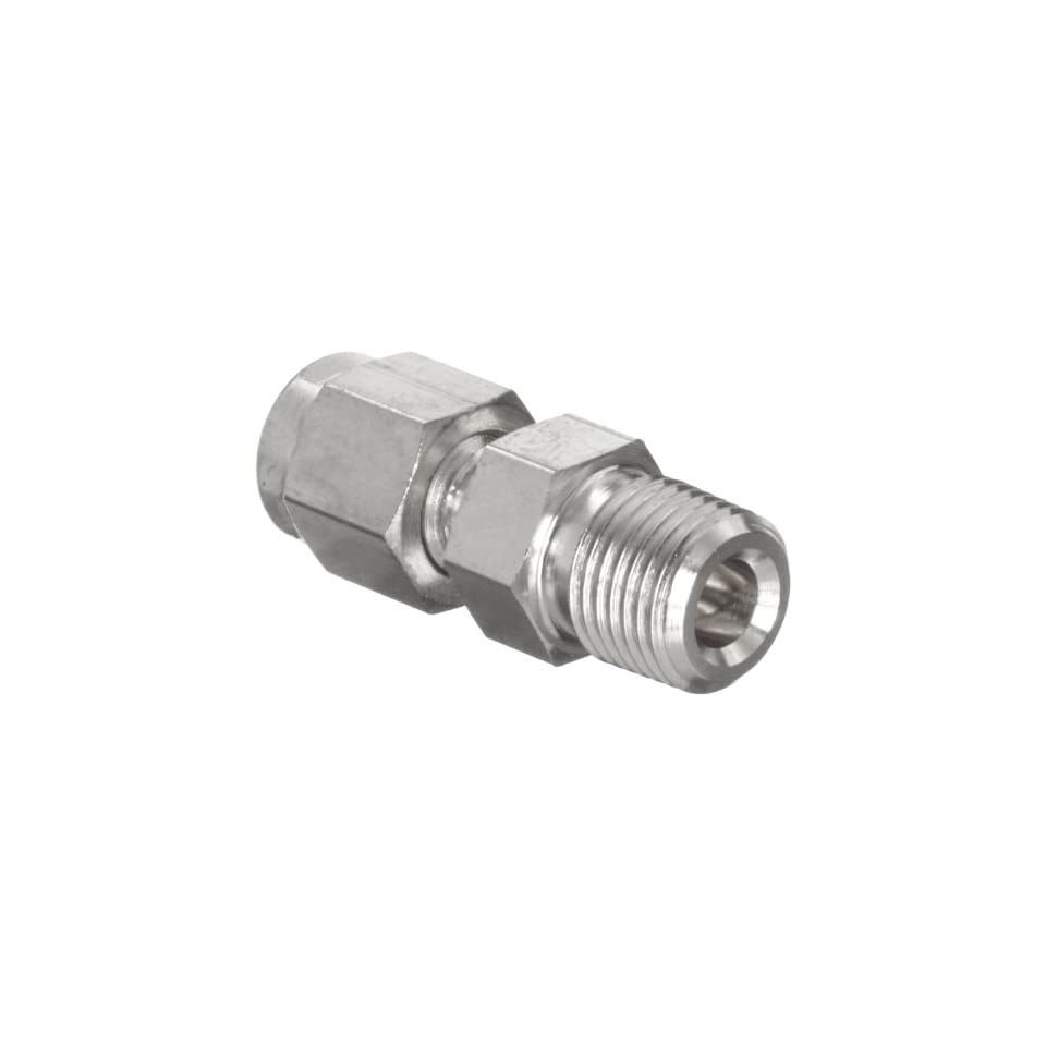 Parker A Lok 8MSC8N 316 316 Stainless Steel Tube Fitting, Adapter, 1/2