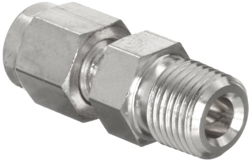Parker A-Lok 4MSC6N-316 316 Stainless Steel Tube Fitting, Adapter, 1/4