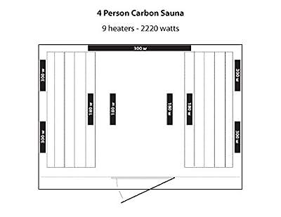 Radiant Saunas BSA2418 4-Person Hemlock Infrared Sauna