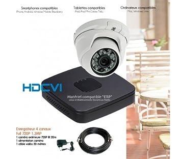 HD-CVI - Kit de Video vigilancia HDCVI con 1 Cámara Domo - Kit 547 - 1 x 2432 - sin Disco Duro: Amazon.es: Bricolaje y herramientas