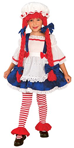 Creepy Doll Costumes For Kids (Yarn Babies Girl Ragdoll Costume, Medium)