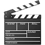 Movie Film Clap Board, Hollywood Clapper Board Wooden Film Movie Clapboard Accessory with Black & White, 12'x11' Give…