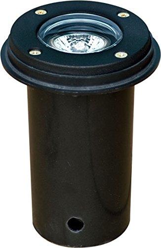 Dabmar Lighting LV301-SLV-B Cast Aluminum In-Ground Well Light, Black