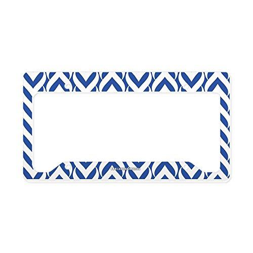 CafePress Chevron/Sawtooth Pattern License Plate Holder Aluminum License Plate Frame, License Tag Holder (Monogram Sawtooth)