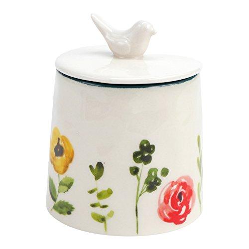 Flower Hand Painted Ceramic (Hallmark Home Floral Accent Sugar Bowl)