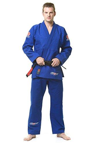(Flow Kimonos Air BJJ Jiu Jitsu Gi (Blue, A3L) )