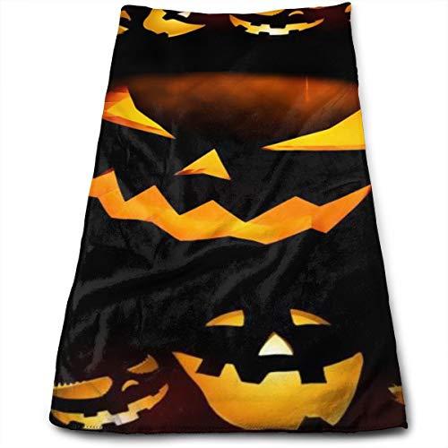 MSMM Face Towel Bath Hand Washcloth Halloween Calabazas Fast Drying Heavy Weight for Guest Bathroom Beach Sports Swimming]()
