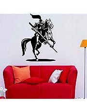Art Muurstickers Ontwerp Slaapkamer Decoratieve Ridder Ridder Middeleeuwse Vinyl Home Decor Zelfklevende Sticker 58X77Cm Mode Behang Muurschildering