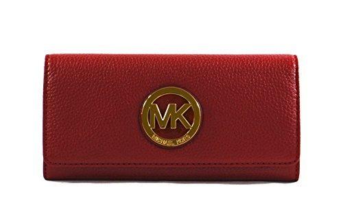 Michael Kors Fulton Pebbled Leather Flap Continental Wallet - Kors Michael Gift Card