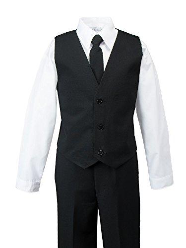 Spring Notion Big Boys' Modern Fit Dress Suit Set 6 Black by Spring Notion (Image #1)
