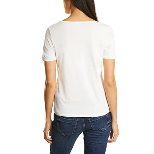 Street One Damen T Shirt Mehrfarbig Off White 30108 919AOABJ